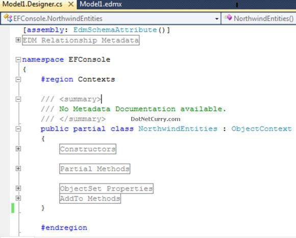Model1.Designer Structure