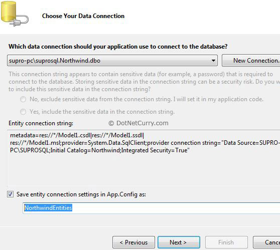 Entity Framework Data Connection