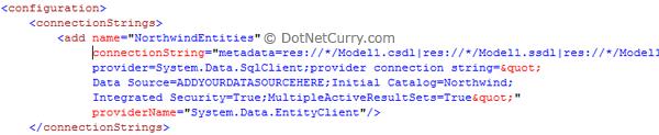 Entity Data Model Conn String