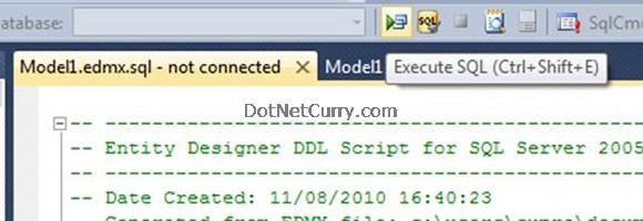 Entity Designer DDL Script
