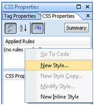 Expression Web Css Properties
