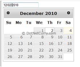 DatePicker UI