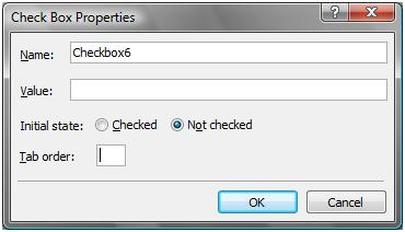 Check Box Properties