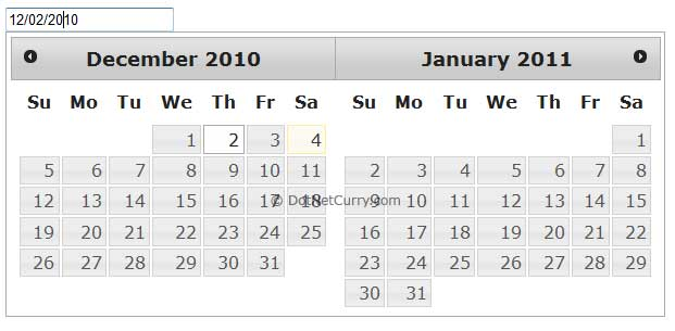 Multiple Month DatePicker