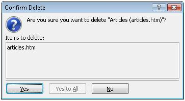 Expression Web Confirm Delete