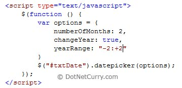 change Year Range DatePicker