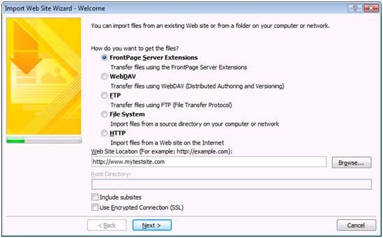 Expression Web FrontPage Server Extensions