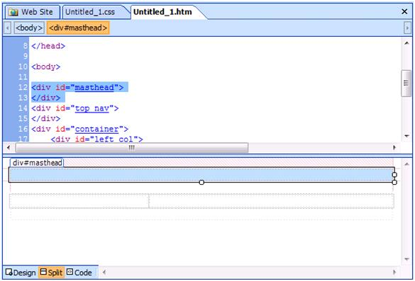 Expression Web HTML page