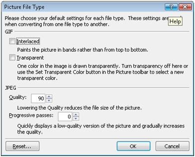 ExpressionWeb Picture File Type