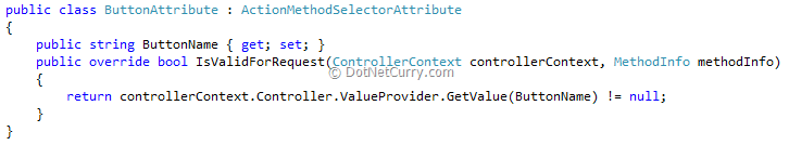 Action Method Selector Attribute