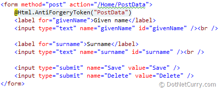 asp.net mvc form