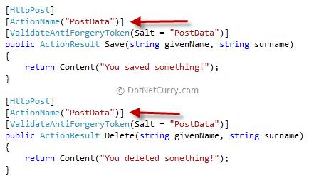 asp.net mvc post data