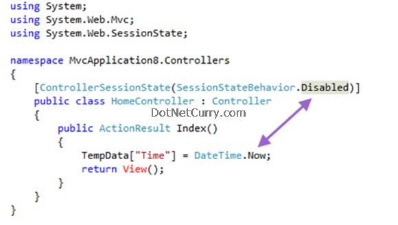 MVC Temp Data Error