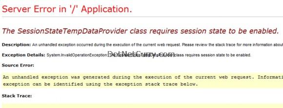 Session State Temp Data Provider