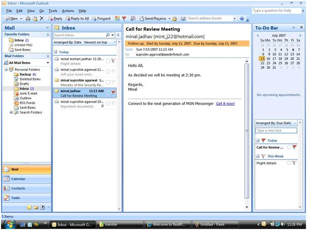 Working with mails in Microsoft Outlook 2007 (I) | DotNetCurry