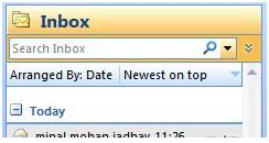 MS Outlook 2007 Search Inbox