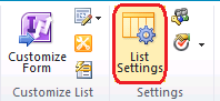 Sharepoint List Settings