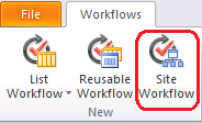 Sharepoint Site Workflow