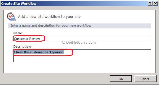 Create Site Workflow