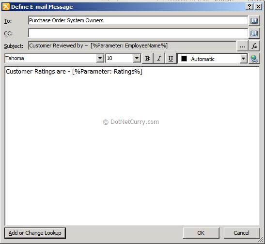 Define EMail Message