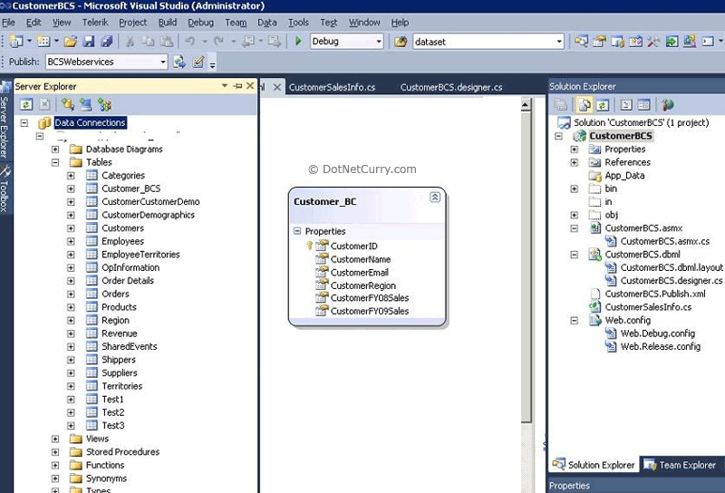 LINQ to SQL Customer Designer