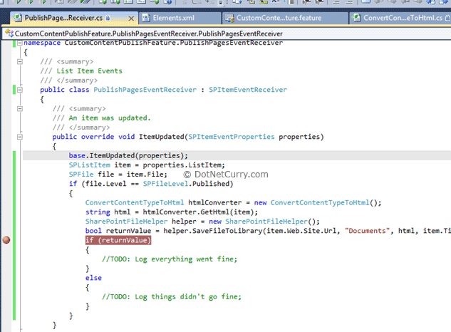sharepoint if breakpoint