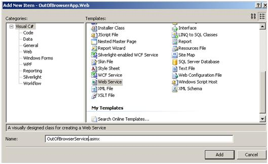 Add Web Service
