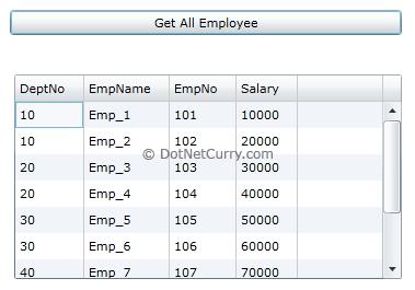 Silverlight Get Employees