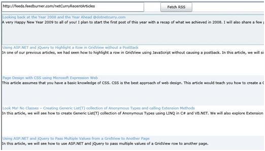Silverlight RSS Reader