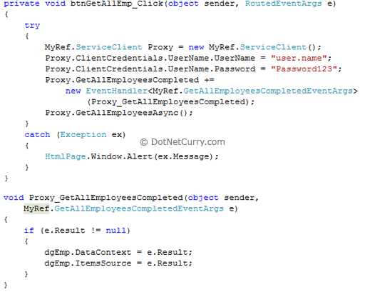 WCF Client Credentials Proxy