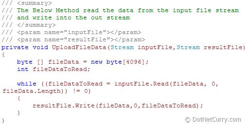 silverlight upload file data