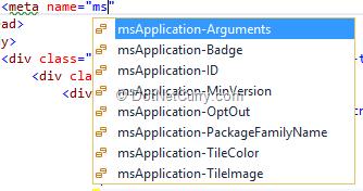 html-meta-ms