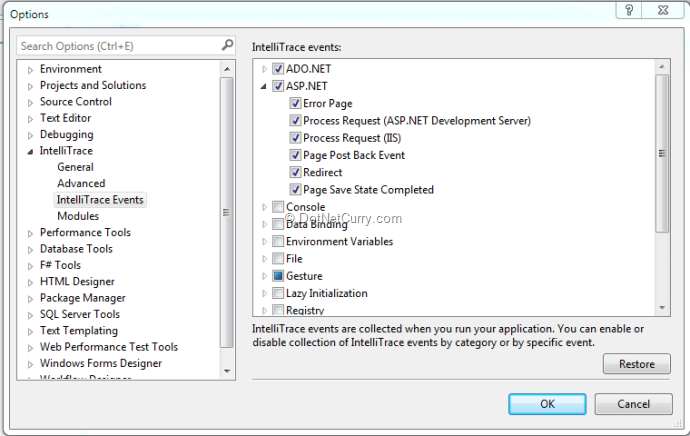 intellitrace-aspnet