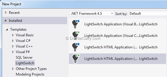 create-lightswitch-proj