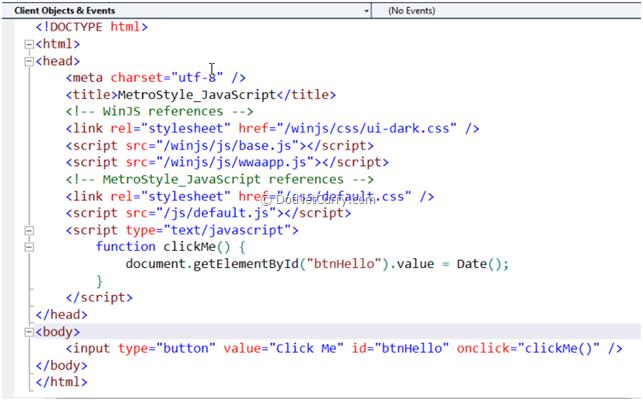 Metrostyle JavaScript