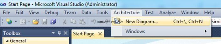 Visual Studio New Diagram
