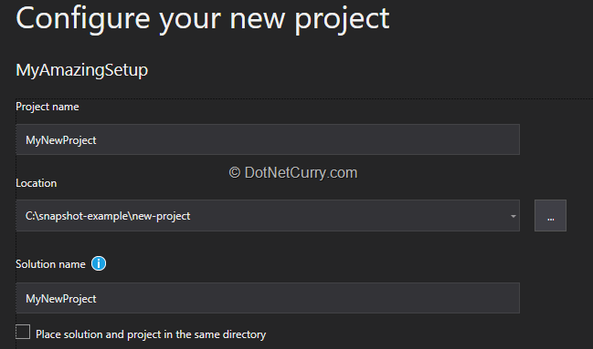 create-new-project-using-installer