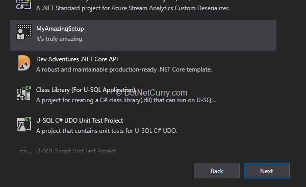 visual-studio-template-installer