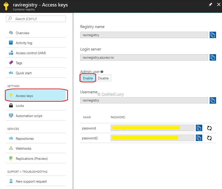 registry-access-keys