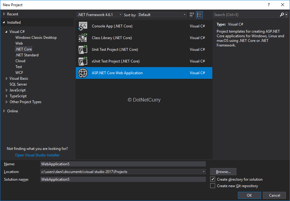 visual-studio-2017-new-project