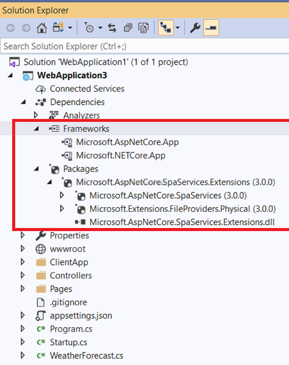 aspnetcore30-project-structure