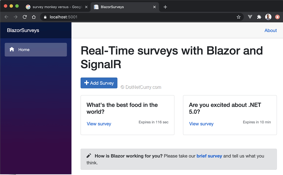 realtime-surveys-blazor-signalr