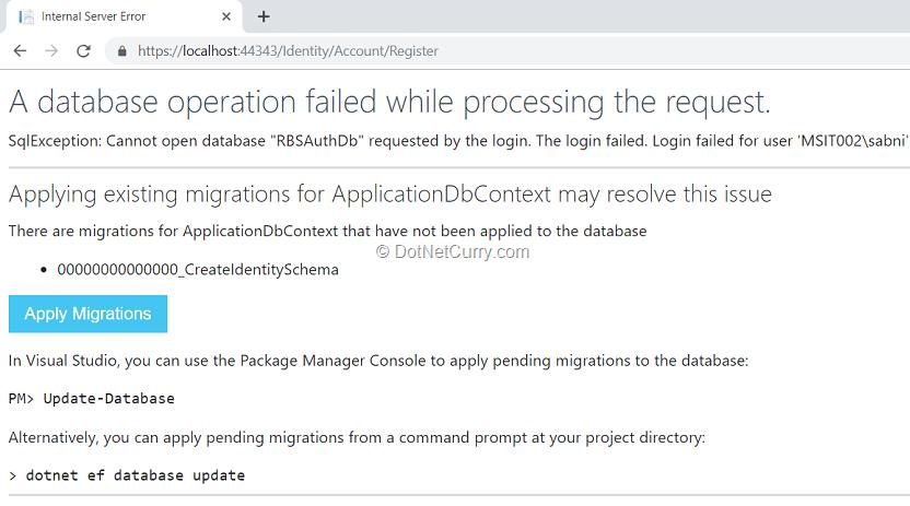 database-error-page