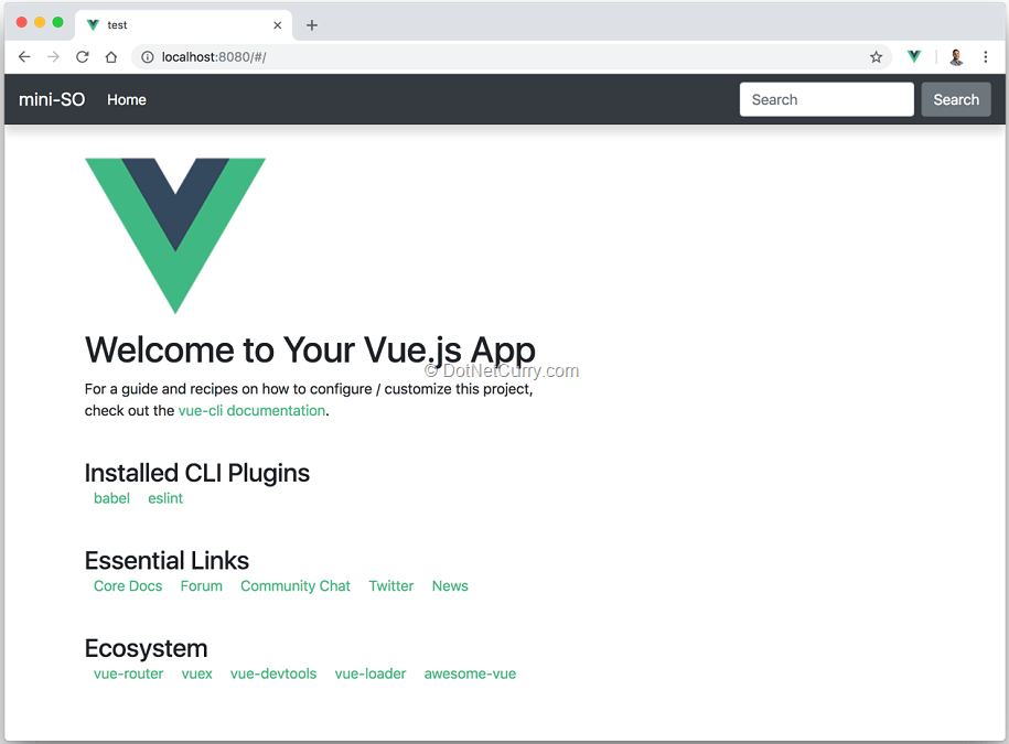 Using ASP NET Core SignalR with Vue js (to create a mini