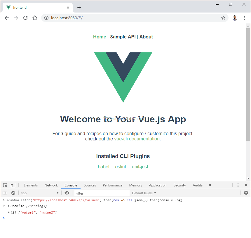 ASP NET Core Vue CLI Templates | DotNetCurry