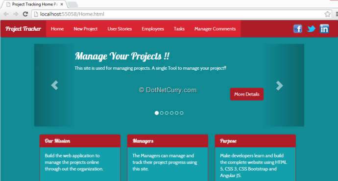 project tracking website using angularjs and asp web api, Powerpoint templates