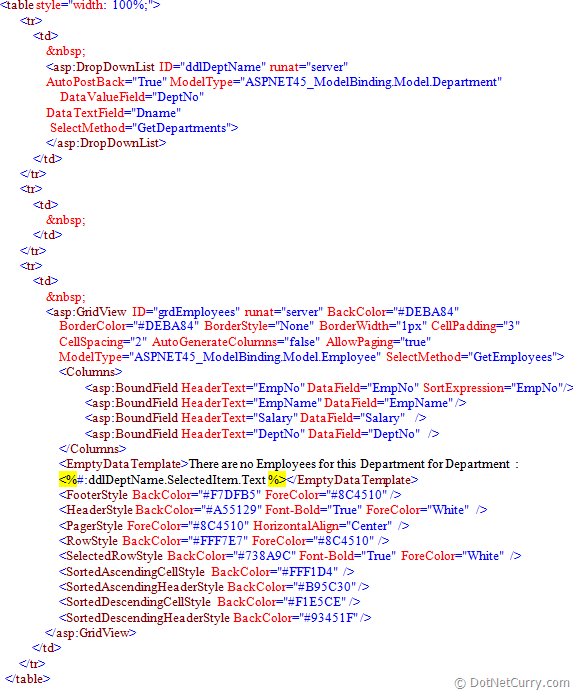 ASP.NET 4.5 Web Form