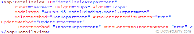 details view binding asp.net 4.5