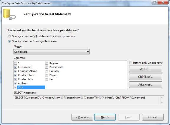 Configure_Select_Statement