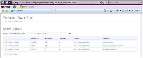Create an ASP NET Dynamic Data Website Using ADO NET Entity